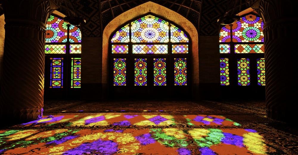 Vitraux de la Mosquée Nasir Al-Mulk