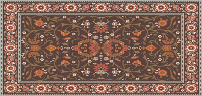 Tapis avec motifs floraux