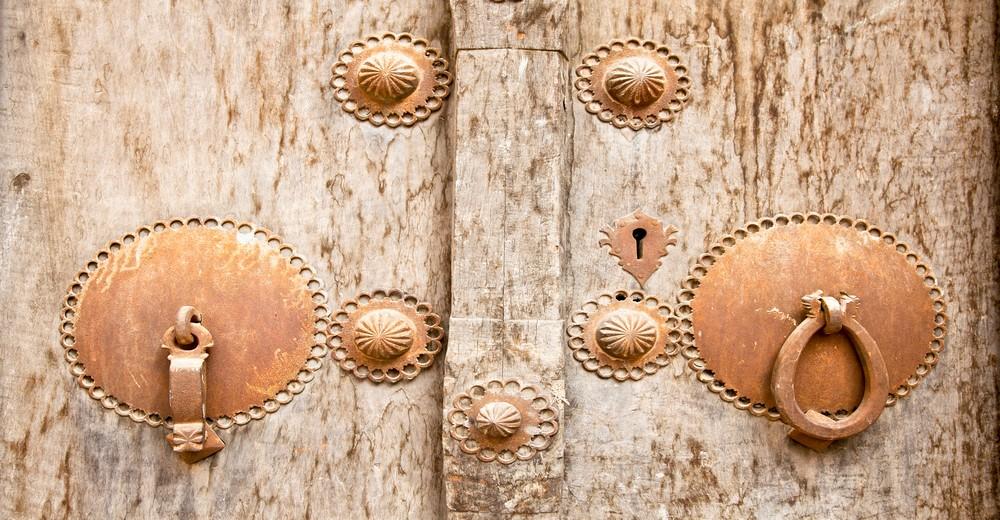 Poignée de porte antique à Yazd