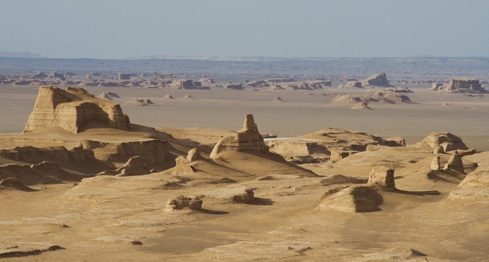 Le désert près de Kerman
