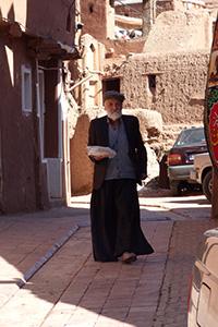 Habitant dans la rue en Iran